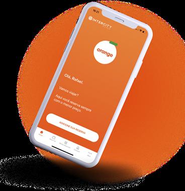 smartphone com aplicativo rodando